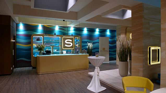 Empfangstresen des Steinkamp Wellness Resort