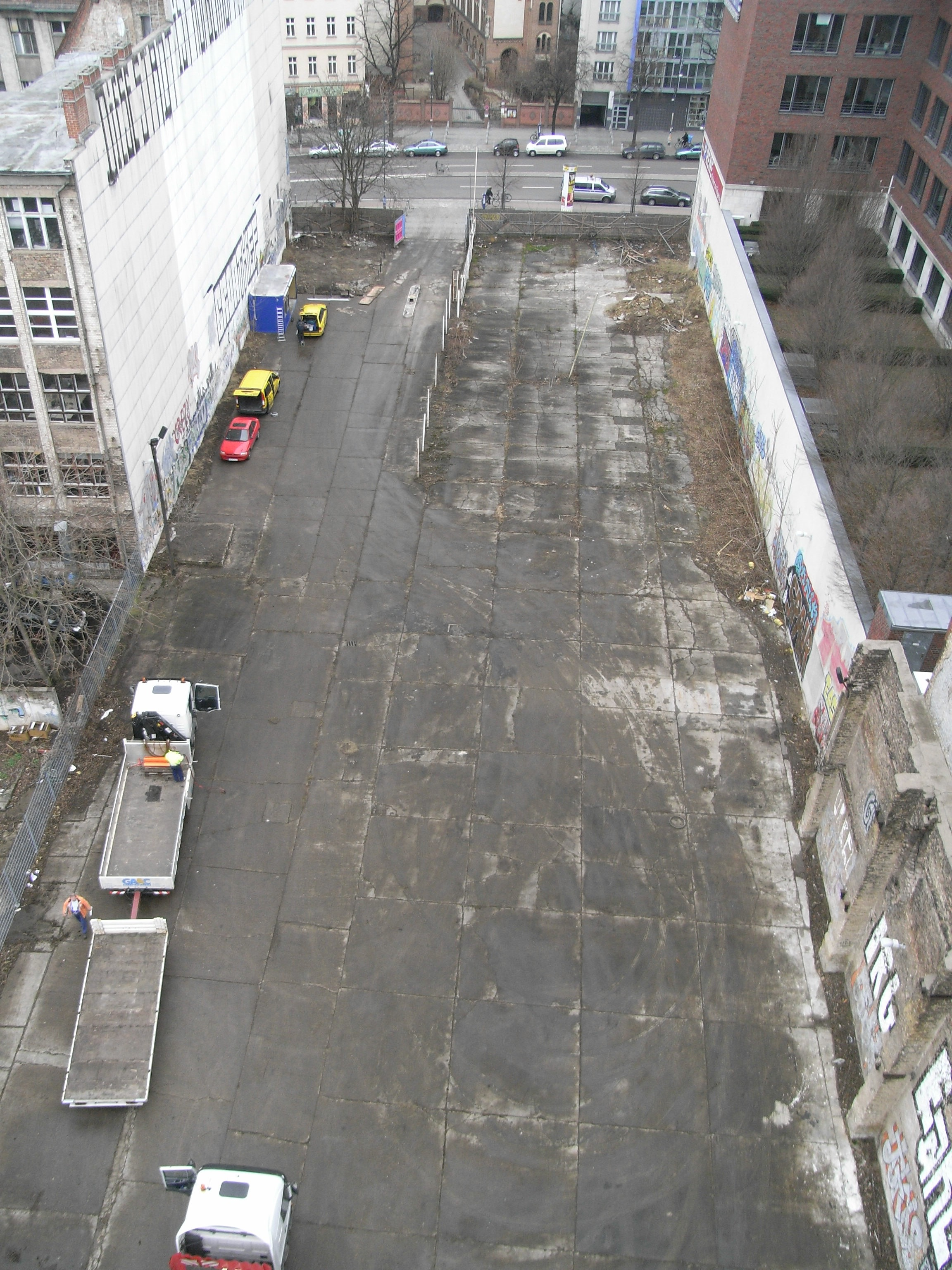 Topview of the site at Schönhauser Allee