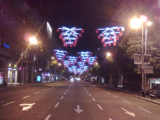 More Christmas decoration Barcelona style