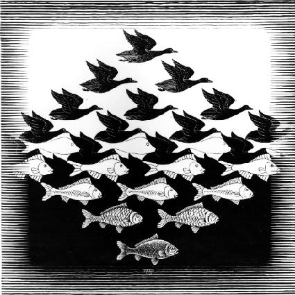Sky and Water I, M.C. Escher 1938